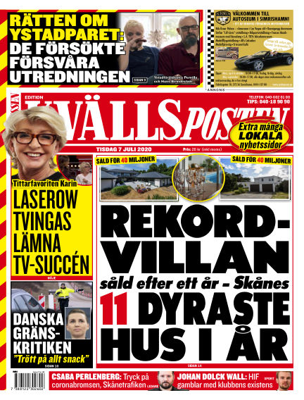 Kvällsposten July 07, 2020 00:00