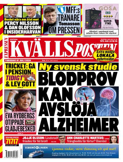 Kvällsposten July 16, 2020 00:00