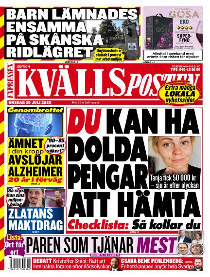 Kvällsposten July 29, 2020 00:00
