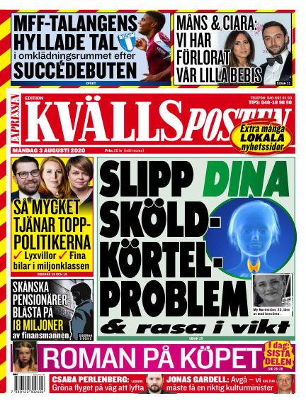 Kvällsposten August 03, 2020 00:00