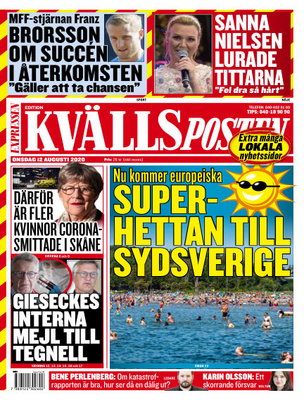 Kvällsposten August 12, 2020 00:00