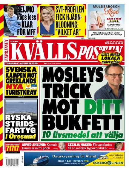 Kvällsposten August 13, 2020 00:00