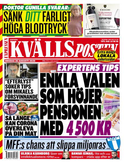 Kvällsposten August 26, 2020 00:00