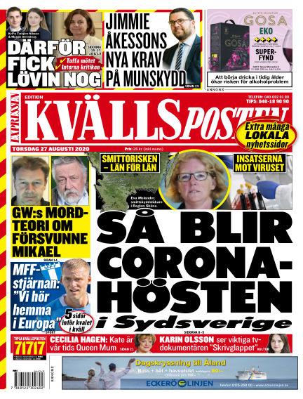 Kvällsposten August 27, 2020 00:00
