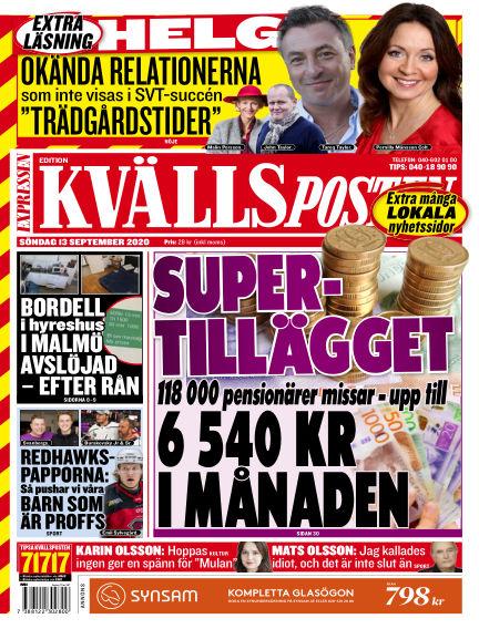 Kvällsposten September 13, 2020 00:00
