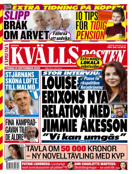 Kvällsposten September 15, 2020 00:00