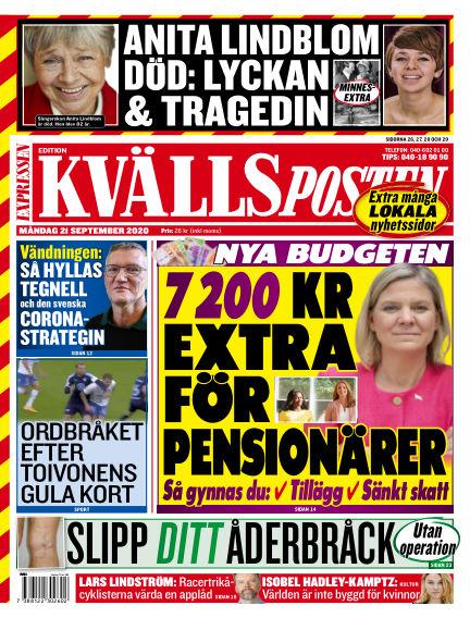Kvällsposten September 21, 2020 00:00