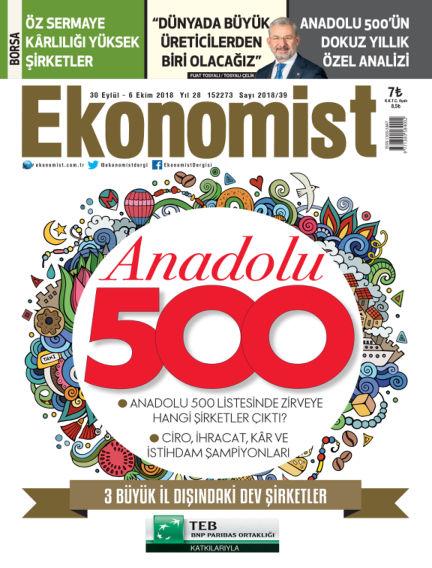Ekonomist October 01, 2018 00:00