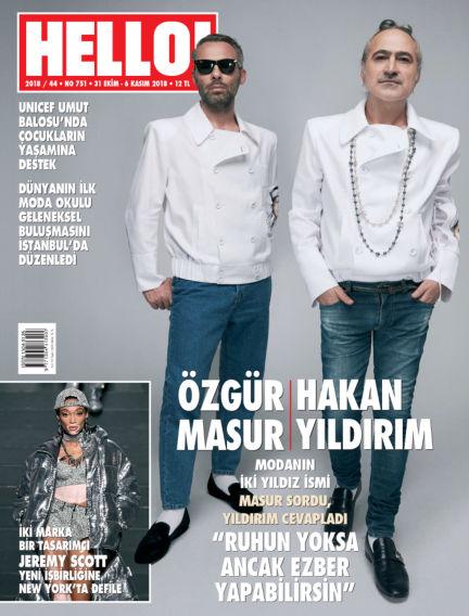 HELLO! - Türkiye November 01, 2018 00:00