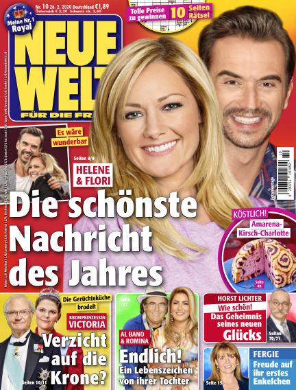 Neue Welt February 26, 2020 00:00