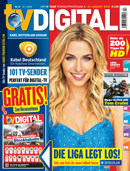 TV DIGITAL Kabel Deutschland July 31, 2015 00:00
