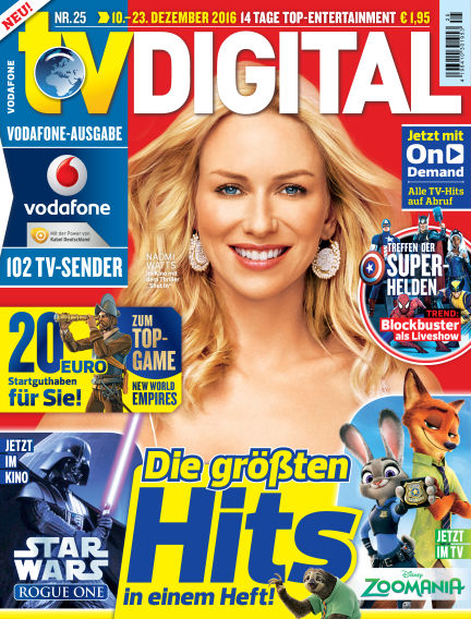 TV DIGITAL Kabel Deutschland December 02, 2016 00:00