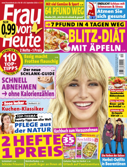 FRAU von HEUTE September 30, 2016 00:00