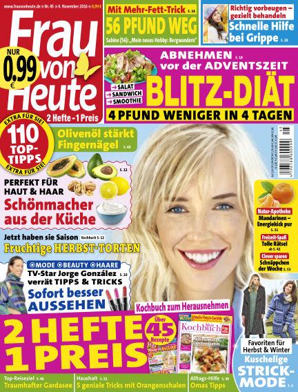 FRAU von HEUTE November 04, 2016 00:00