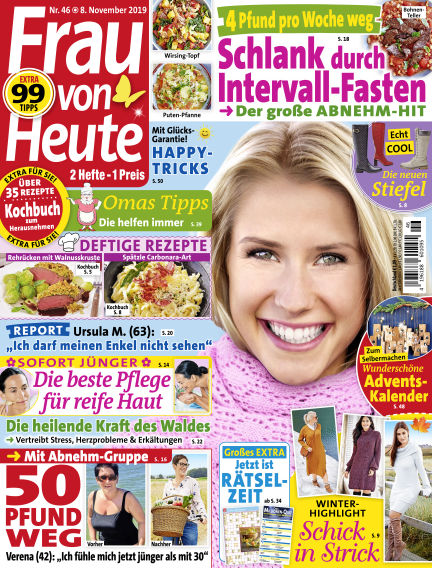 FRAU von HEUTE November 08, 2019 00:00