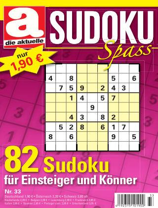 Die aktuelle Sudoku Spass Nr. 33 2016