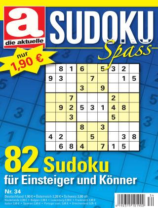 Die aktuelle Sudoku Spass Nr. 34 2017