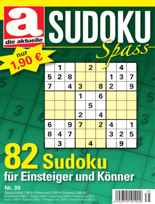 Die aktuelle Sudoku Spass Nr. 35 2017