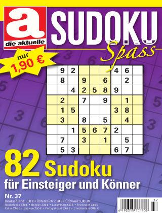 Die aktuelle Sudoku Spass Nr. 37 2017
