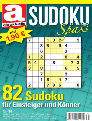 Die aktuelle Sudoku Spass Nr. 38 2017