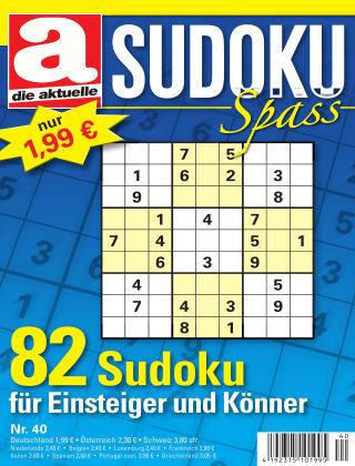 Die aktuelle Sudoku Spass Nr. 40 2018