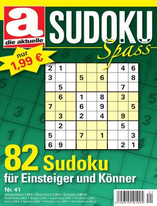 Die aktuelle Sudoku Spass Nr. 41 2018