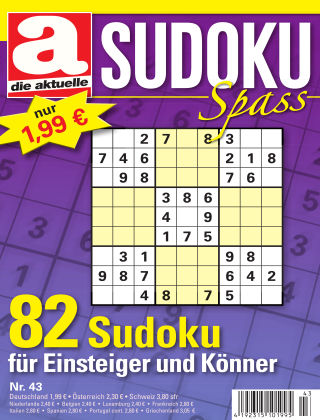 Die aktuelle Sudoku Spass Nr. 43 2018