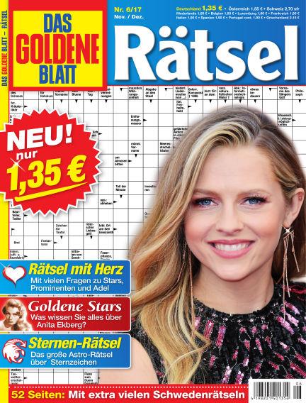 Das Goldene Blatt-Rätsel October 09, 2017 00:00