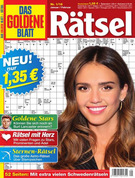 Das Goldene Blatt-Rätsel December 11, 2017 00:00