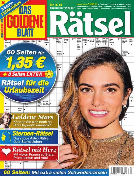 Das Goldene Blatt-Rätsel August 06, 2018 00:00