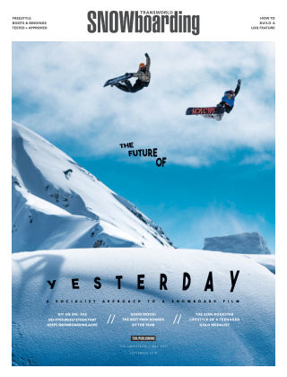 TransWorld Snowboarding Sep 2018