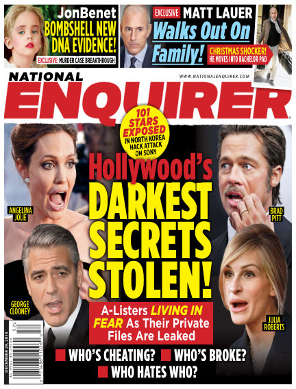 National Enquirer December 19, 2014 00:00