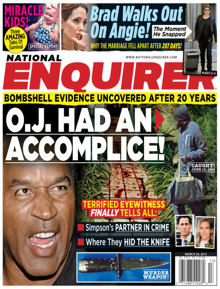 National Enquirer March 20, 2015 00:00