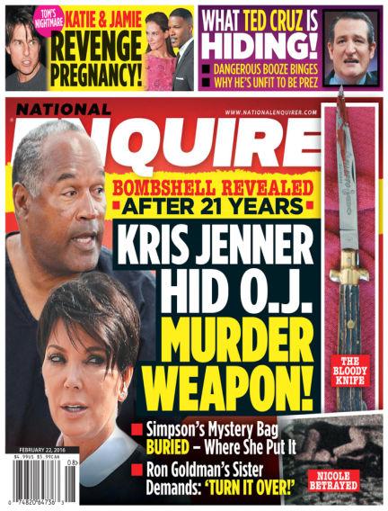 National Enquirer February 12, 2016 00:00