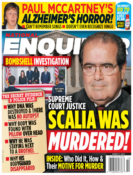 National Enquirer February 26, 2016 00:00