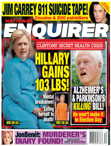 National Enquirer August 12, 2016 00:00