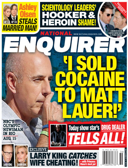 National Enquirer August 26, 2016 00:00