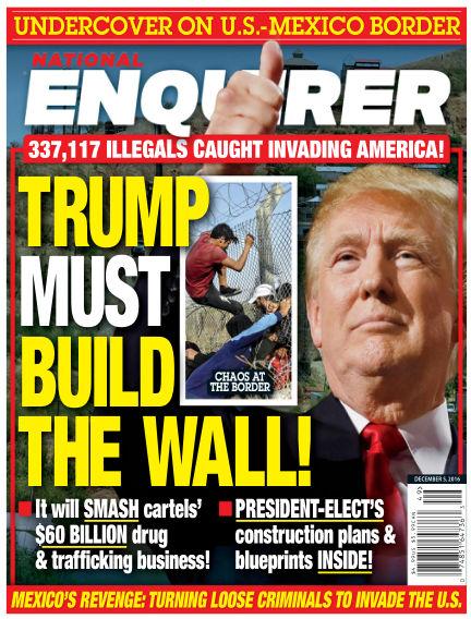 National Enquirer November 25, 2016 00:00