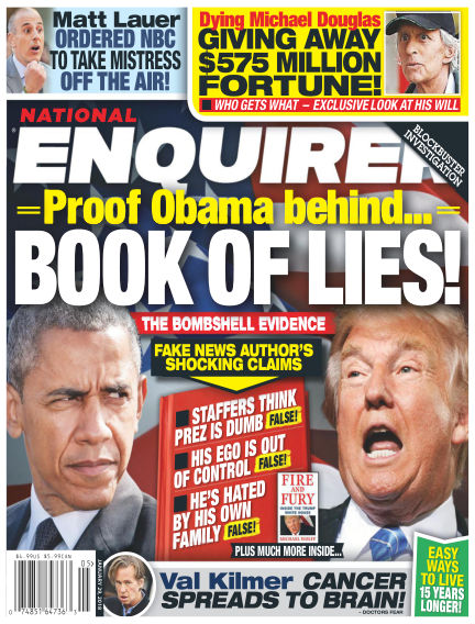 National Enquirer January 19, 2018 00:00