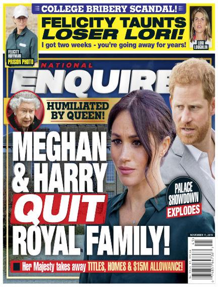 National Enquirer November 01, 2019 00:00