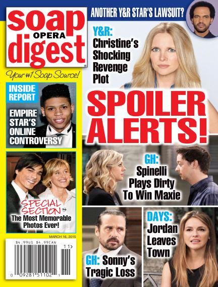 Soap Opera Digest March 06, 2015 00:00