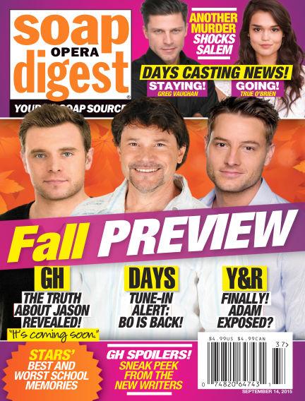 Soap Opera Digest September 04, 2015 00:00