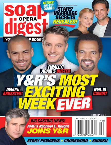 Soap Opera Digest September 25, 2015 00:00