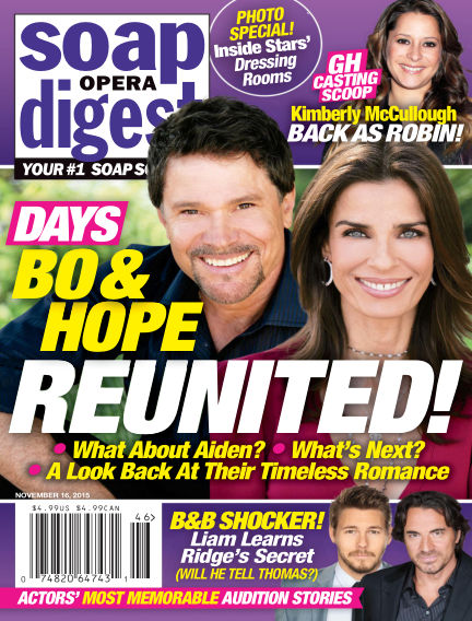 Soap Opera Digest November 06, 2015 00:00