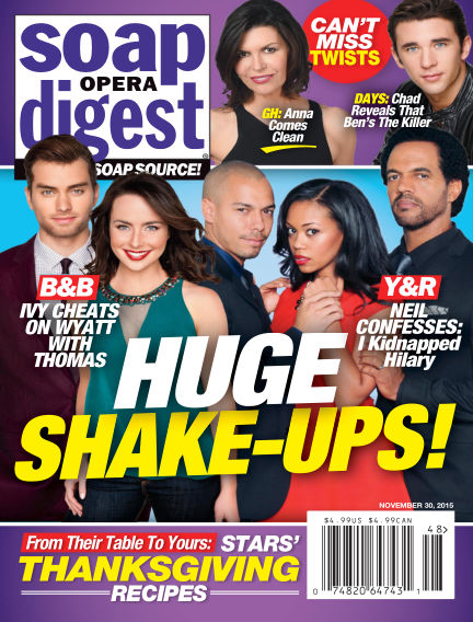 Soap Opera Digest November 20, 2015 00:00
