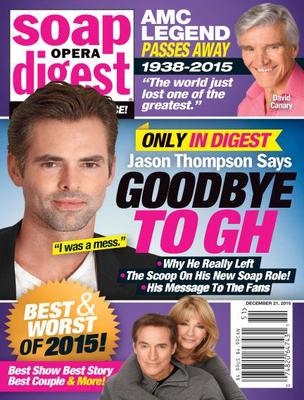 Soap Opera Digest December 11, 2015 00:00