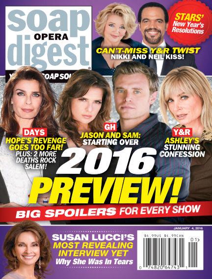 Soap Opera Digest December 25, 2015 00:00
