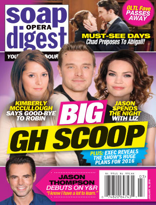Soap Opera Digest Jan 18 2016