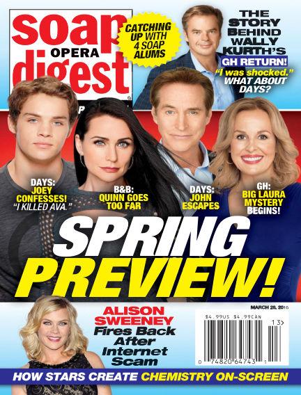 Soap Opera Digest March 18, 2016 00:00