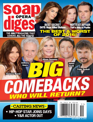 Soap Opera Digest Dec 19 2016